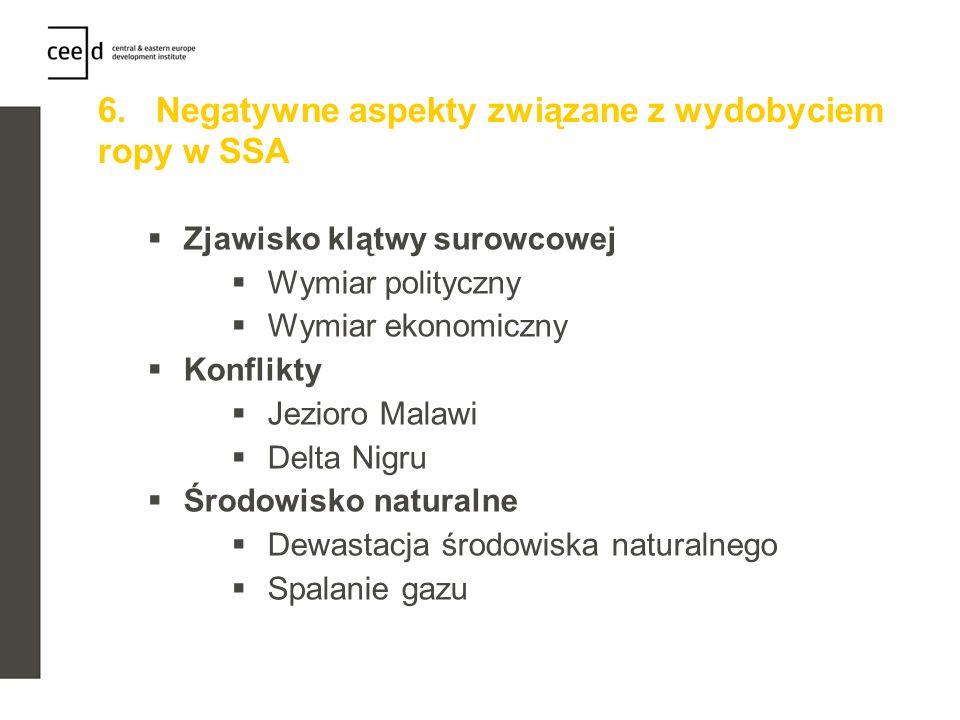 6. Negatywne aspekty związane z wydobyciem ropy w SSA