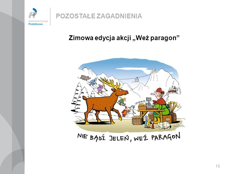"""Zimowa edycja akcji """"Weź paragon"""