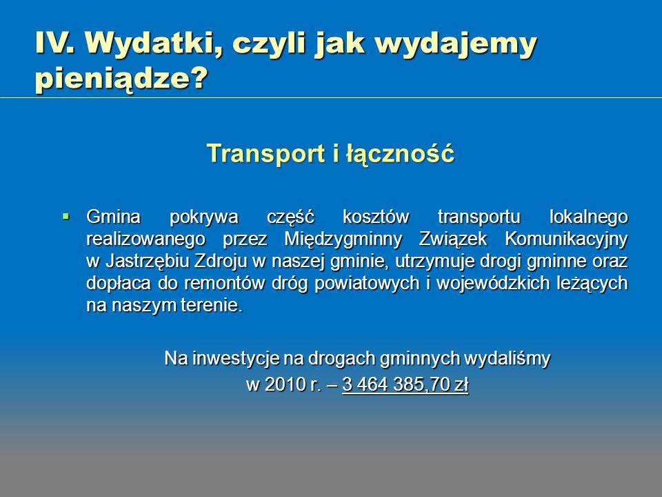 Na inwestycje na drogach gminnych wydaliśmy