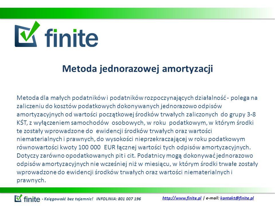 Metoda jednorazowej amortyzacji
