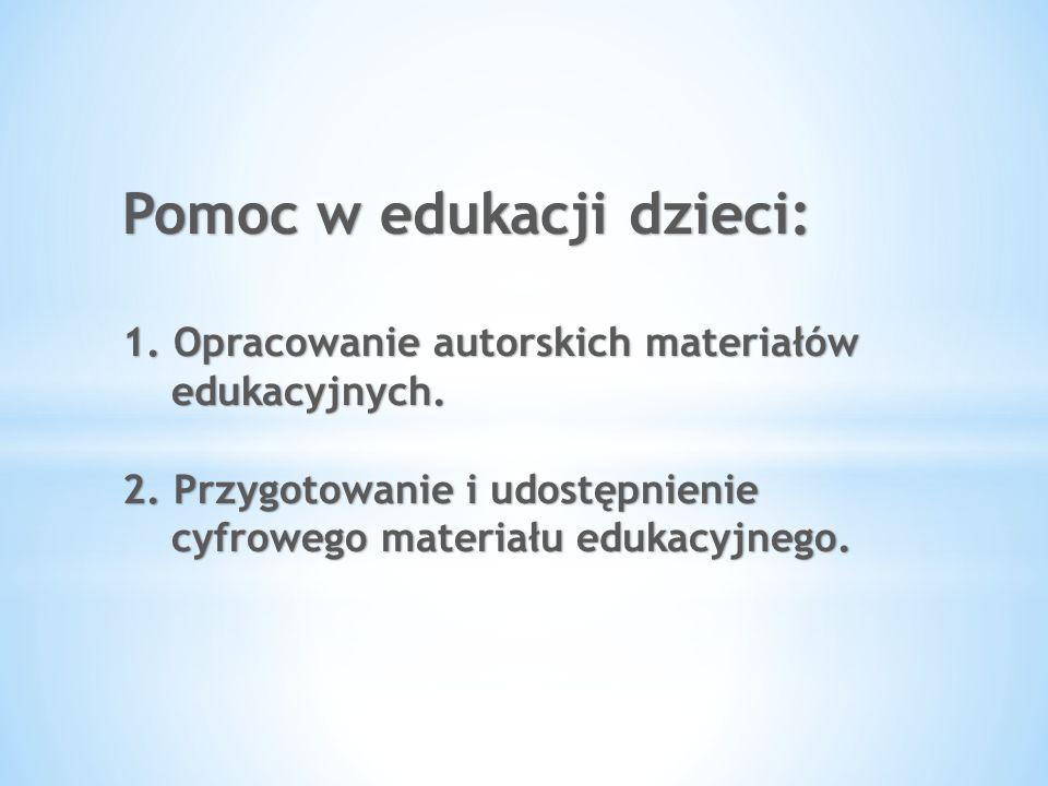 Pomoc w edukacji dzieci: 1
