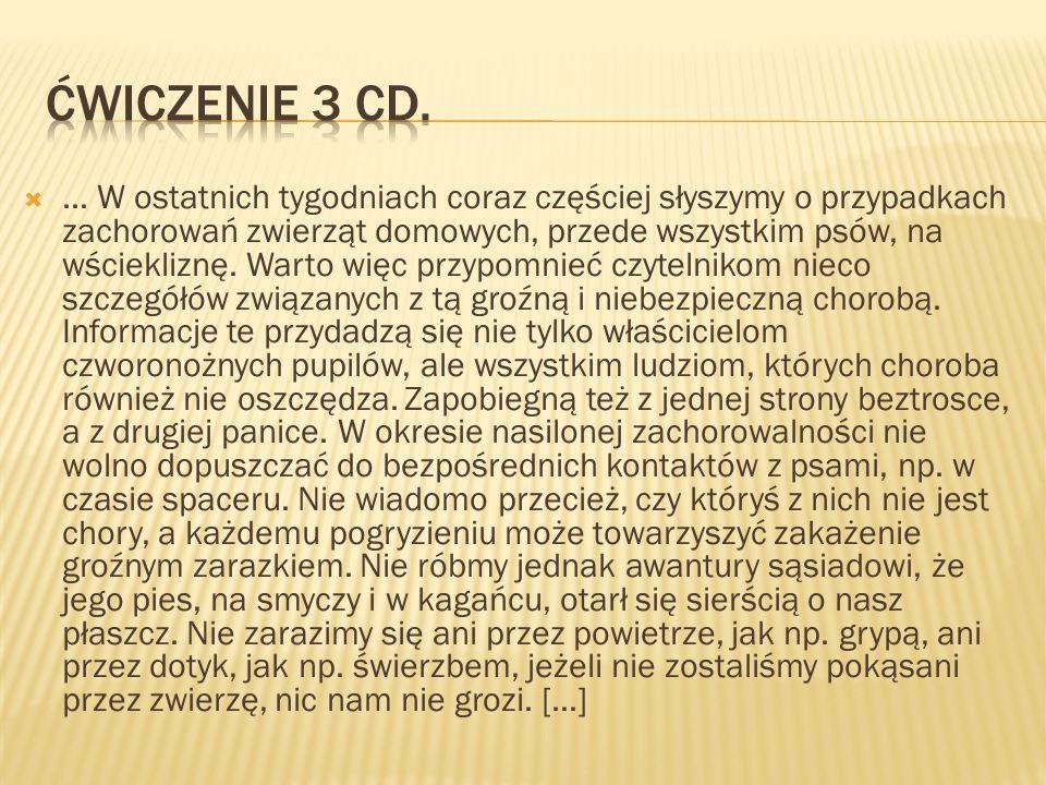 Ćwiczenie 3 cd.
