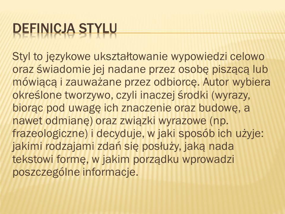 Definicja stylu
