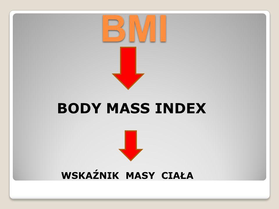 BMI BODY MASS INDEX WSKAŹNIK MASY CIAŁA
