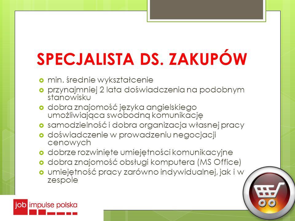 SPECJALISTA DS. ZAKUPÓW