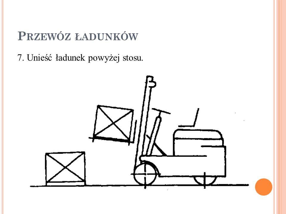 Przewóz ładunków 7. Unieść ładunek powyżej stosu.