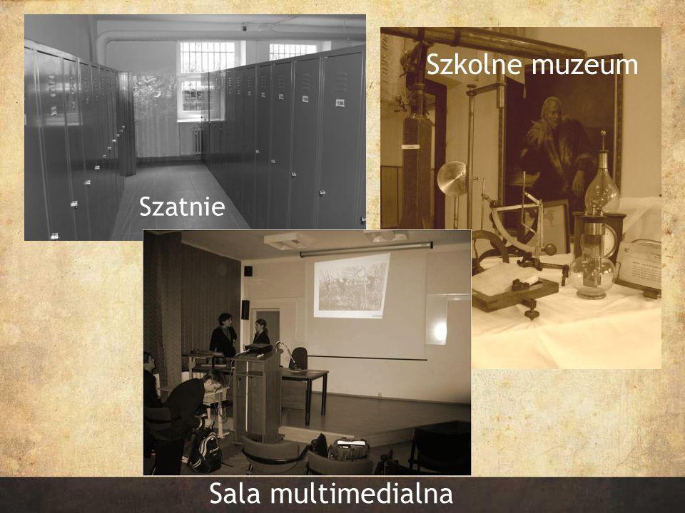 Szkolne muzeum Szatnie Szatnie Sala multimedialna