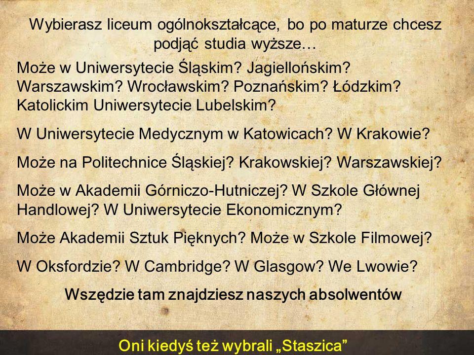 W Uniwersytecie Medycznym w Katowicach W Krakowie