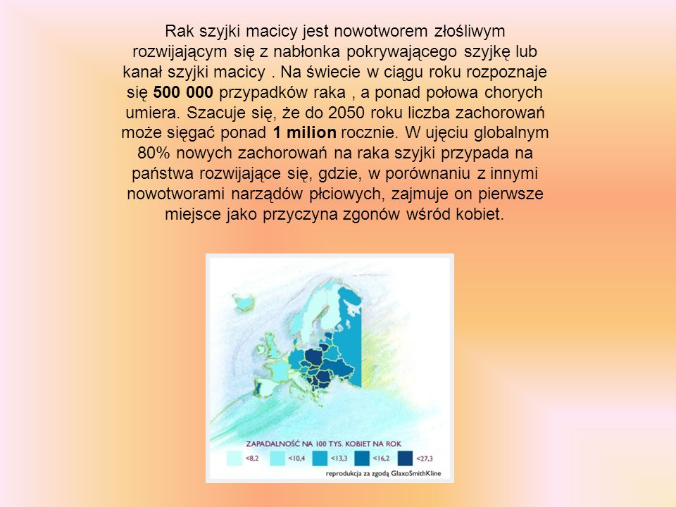 Rak szyjki macicy jest nowotworem złośliwym rozwijającym się z nabłonka pokrywającego szyjkę lub kanał szyjki macicy .