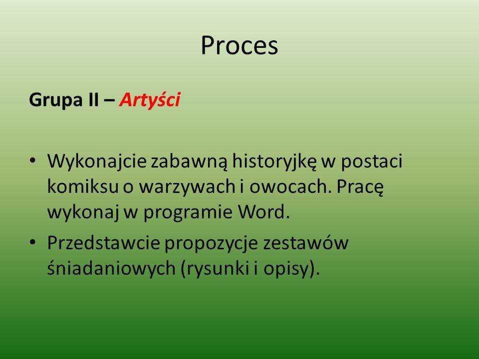 Proces Grupa II – Artyści