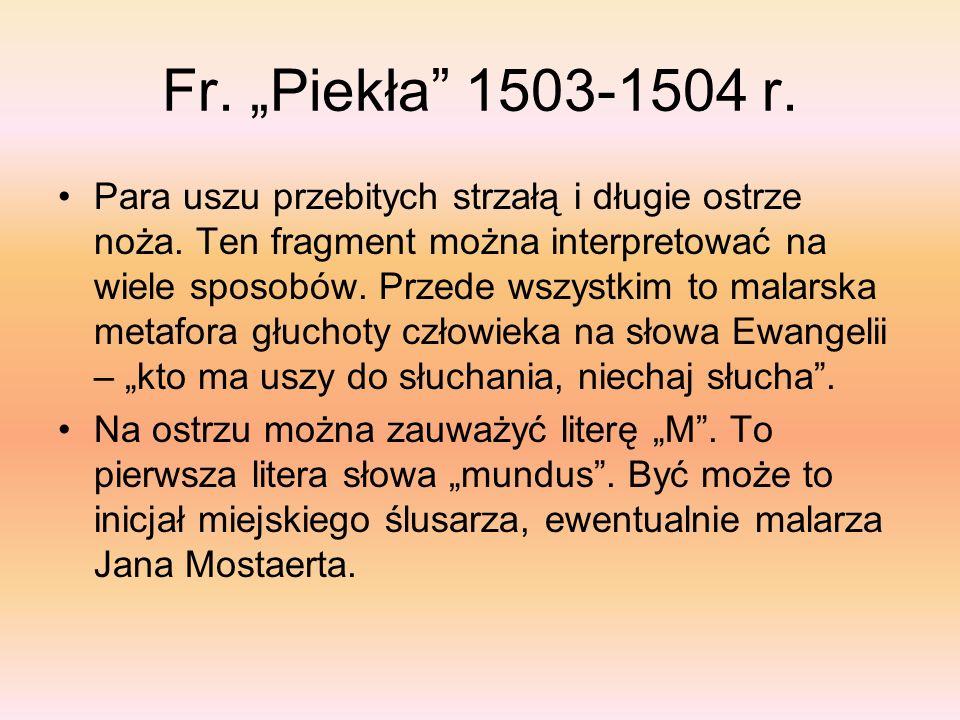 "Fr. ""Piekła 1503-1504 r."