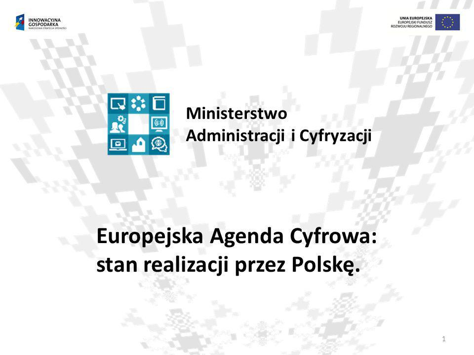Europejska Agenda Cyfrowa: stan realizacji przez Polskę.