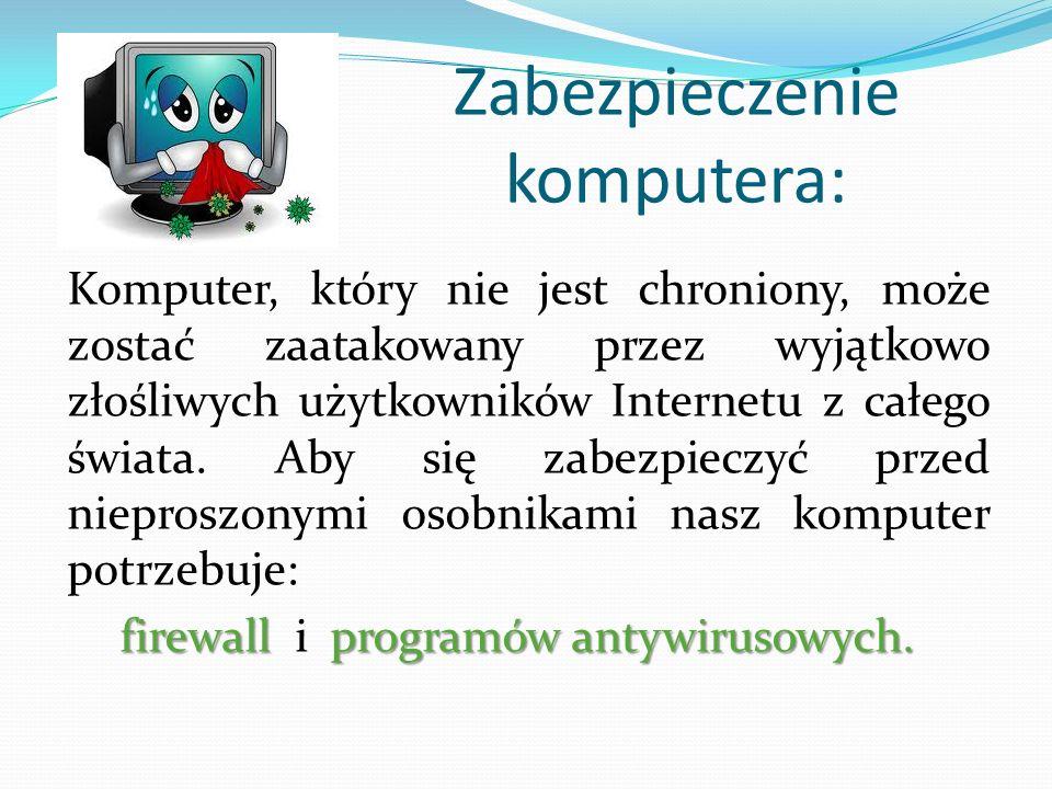 Zabezpieczenie komputera: