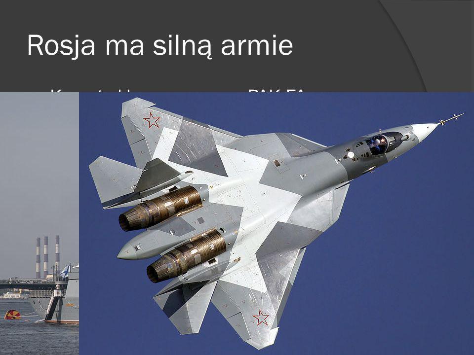 Rosja ma silną armie Korweta klasy Stiereguszczyj PAK FA