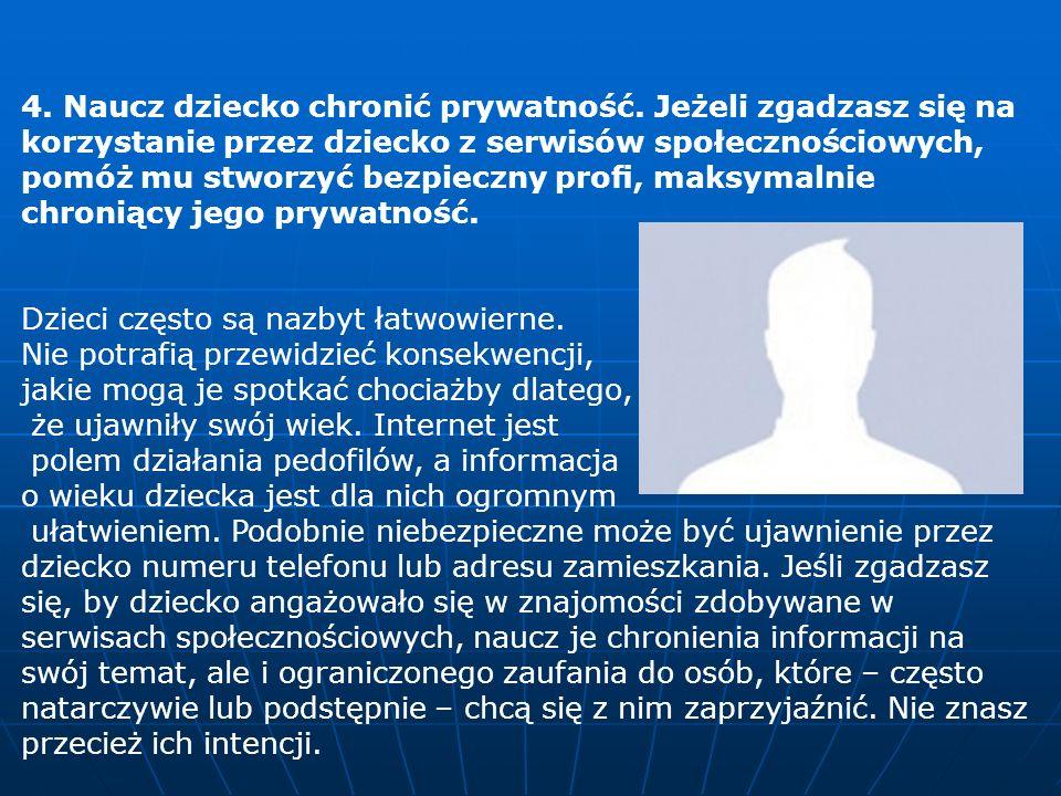 4. Naucz dziecko chronić prywatność