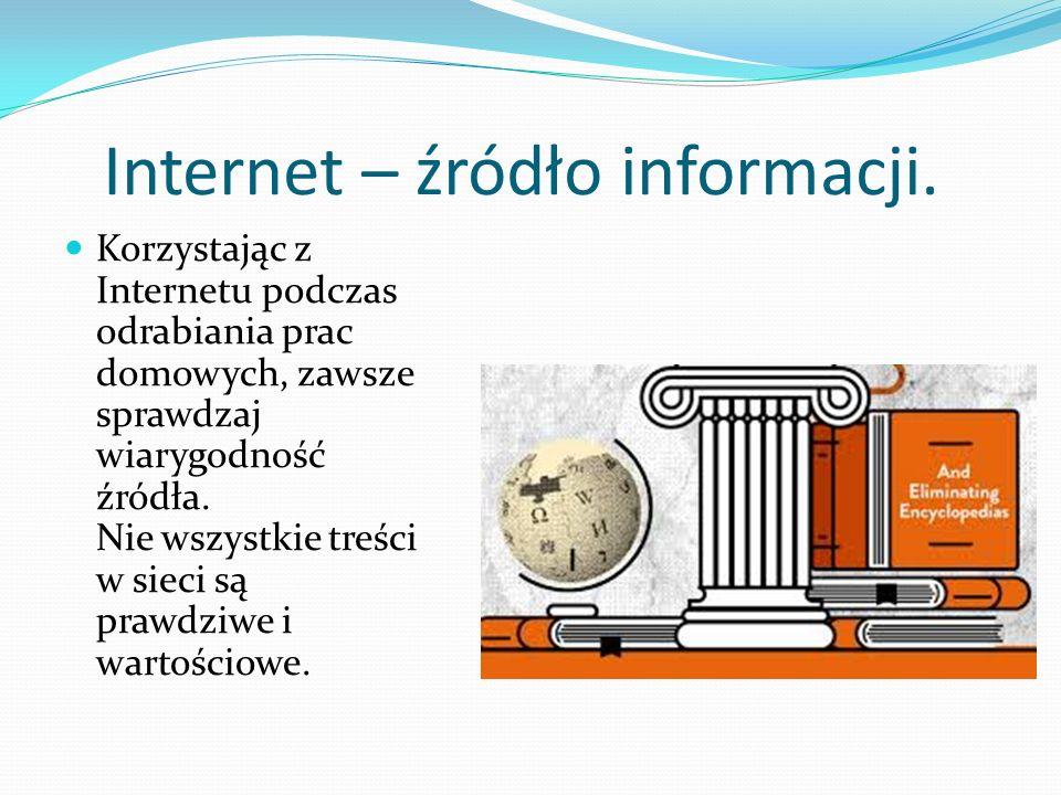 Internet – źródło informacji.