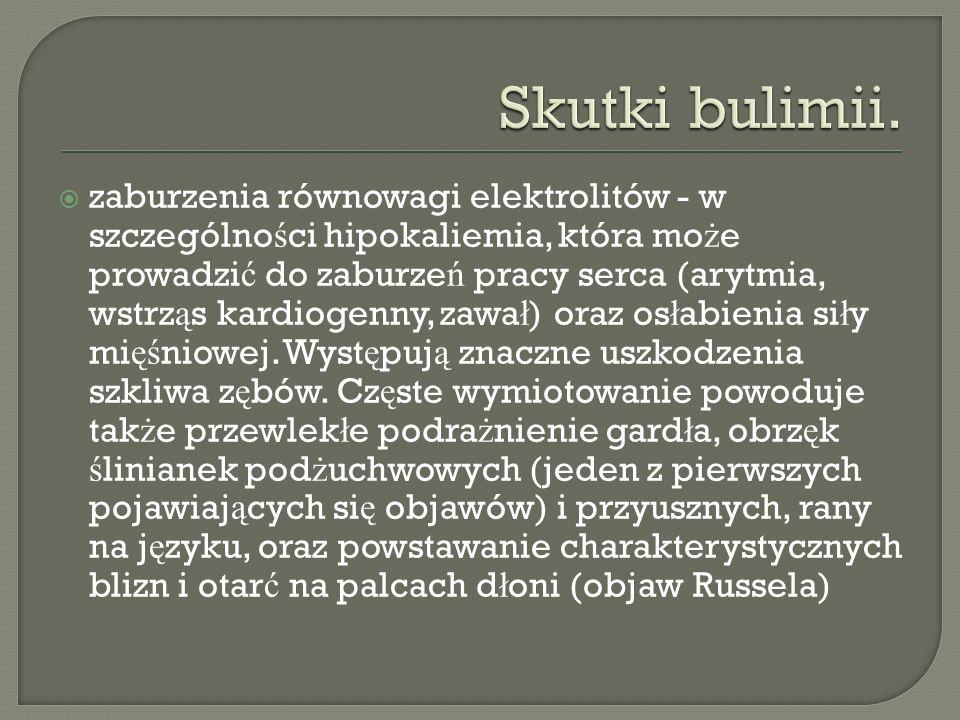 Skutki bulimii.