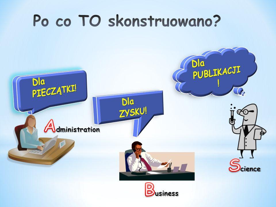Administration Science Business Po co TO skonstruowano Dla