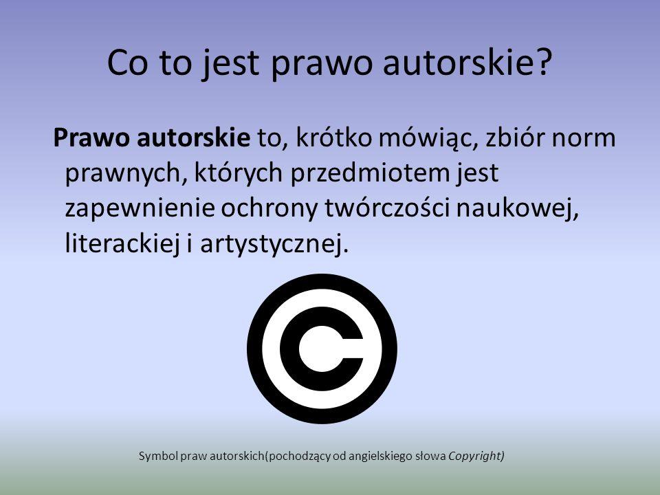 Co to jest prawo autorskie