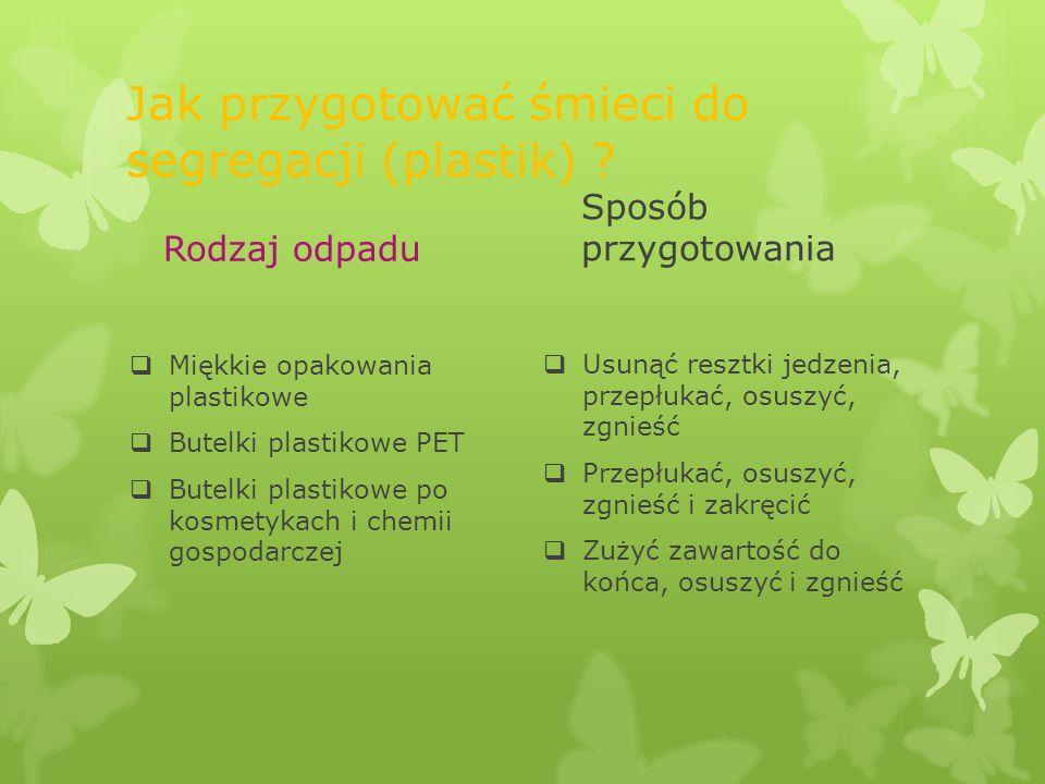 Jak przygotować śmieci do segregacji (plastik)
