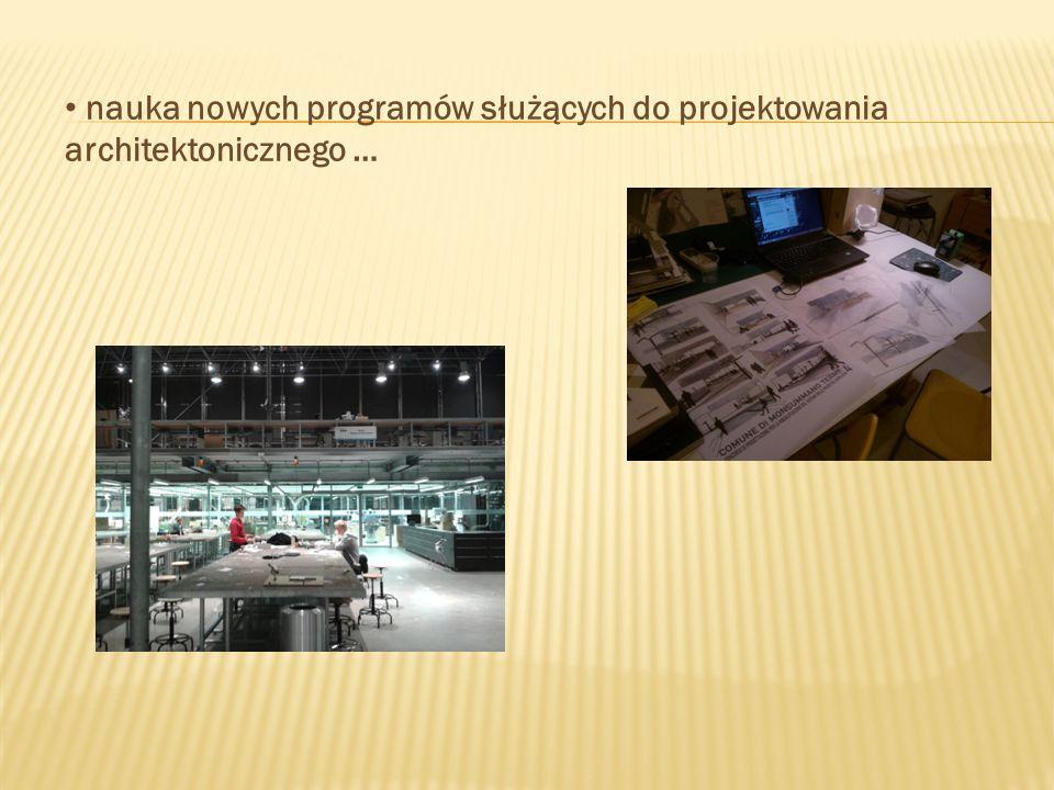 nauka nowych programów służących do projektowania architektonicznego …
