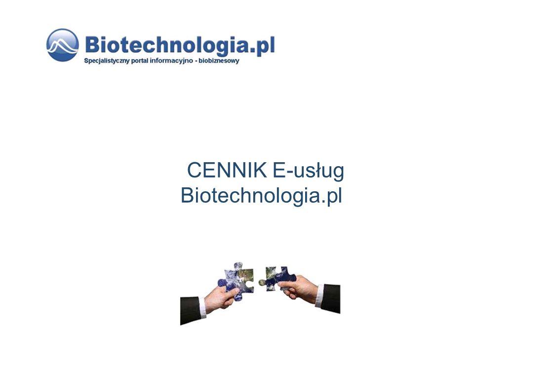 CENNIK E-usług Biotechnologia.pl