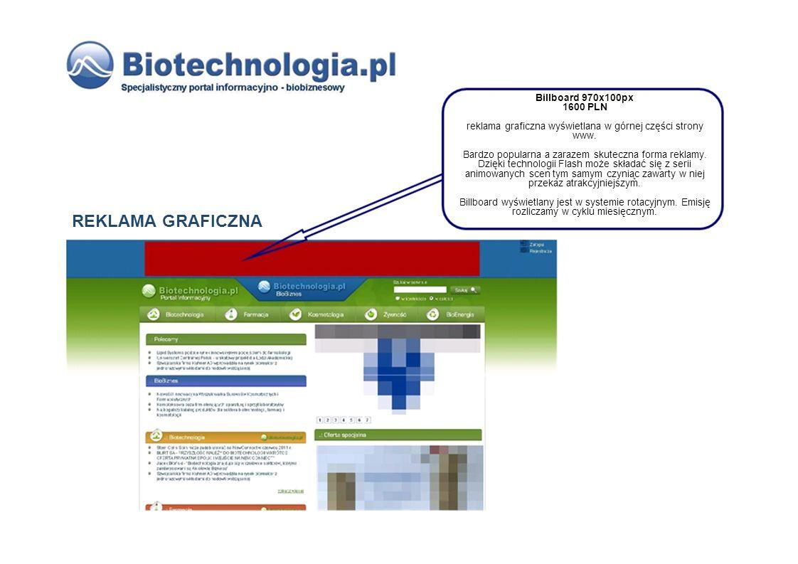 reklama graficzna wyświetlana w górnej części strony www.