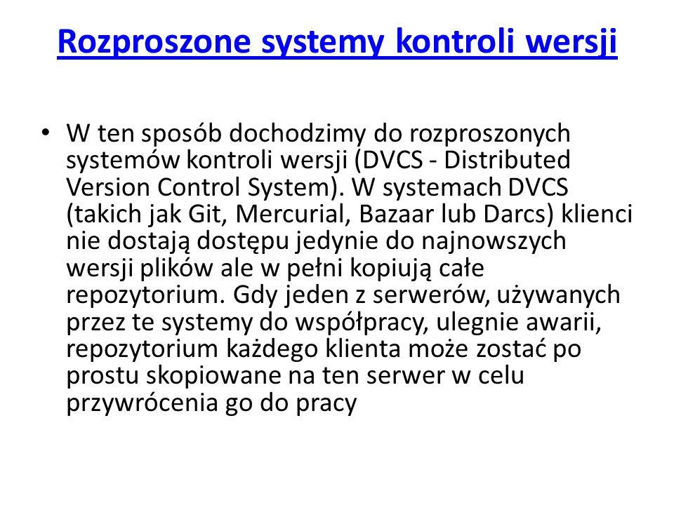 Rozproszone systemy kontroli wersji