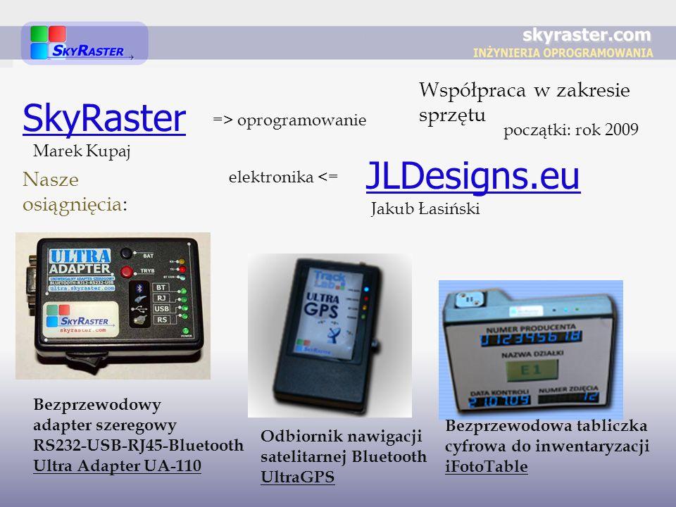 SkyRaster JLDesigns.eu Współpraca w zakresie sprzętu