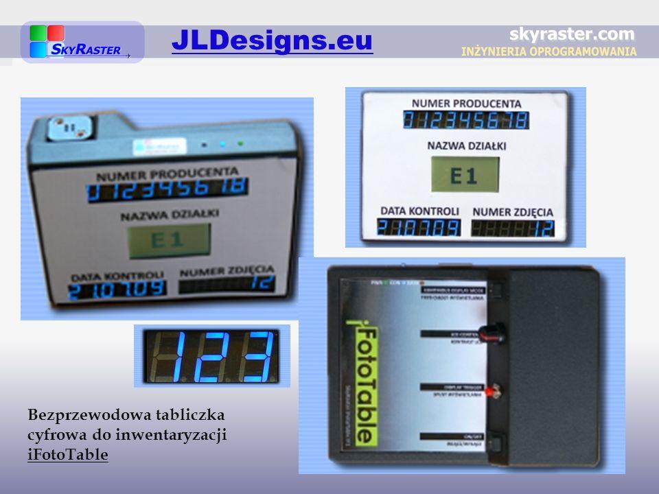 JLDesigns.eu Bezprzewodowa tabliczka cyfrowa do inwentaryzacji