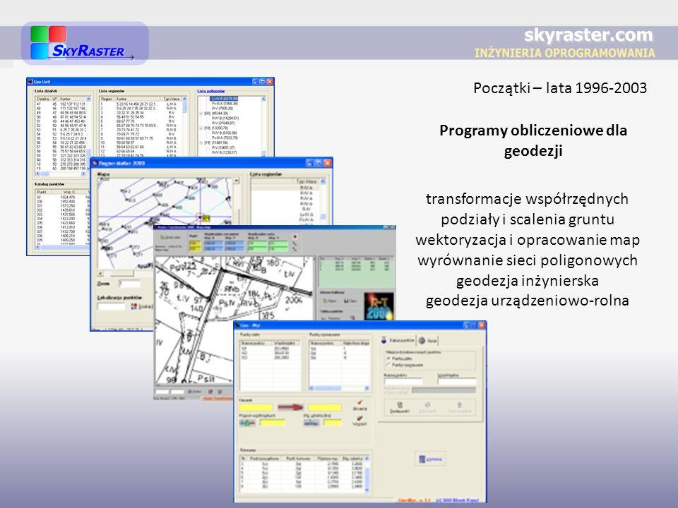 Programy obliczeniowe dla geodezji