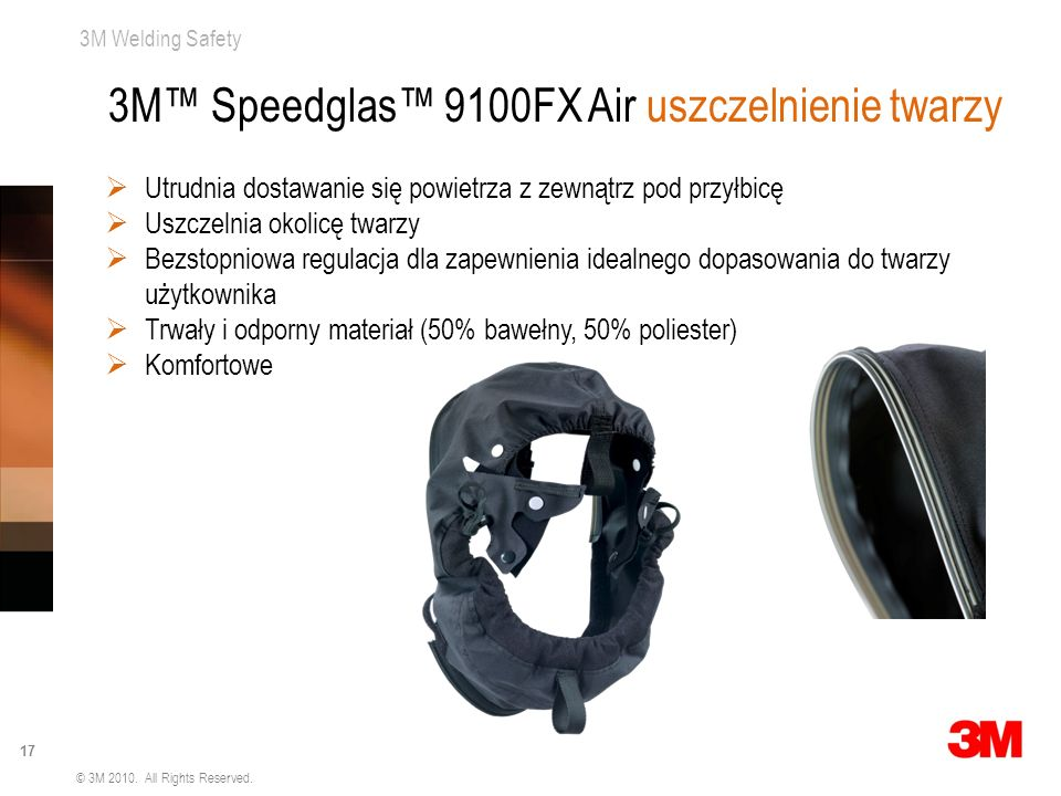 3M™ Speedglas™ 9100FX Air uszczelnienie twarzy