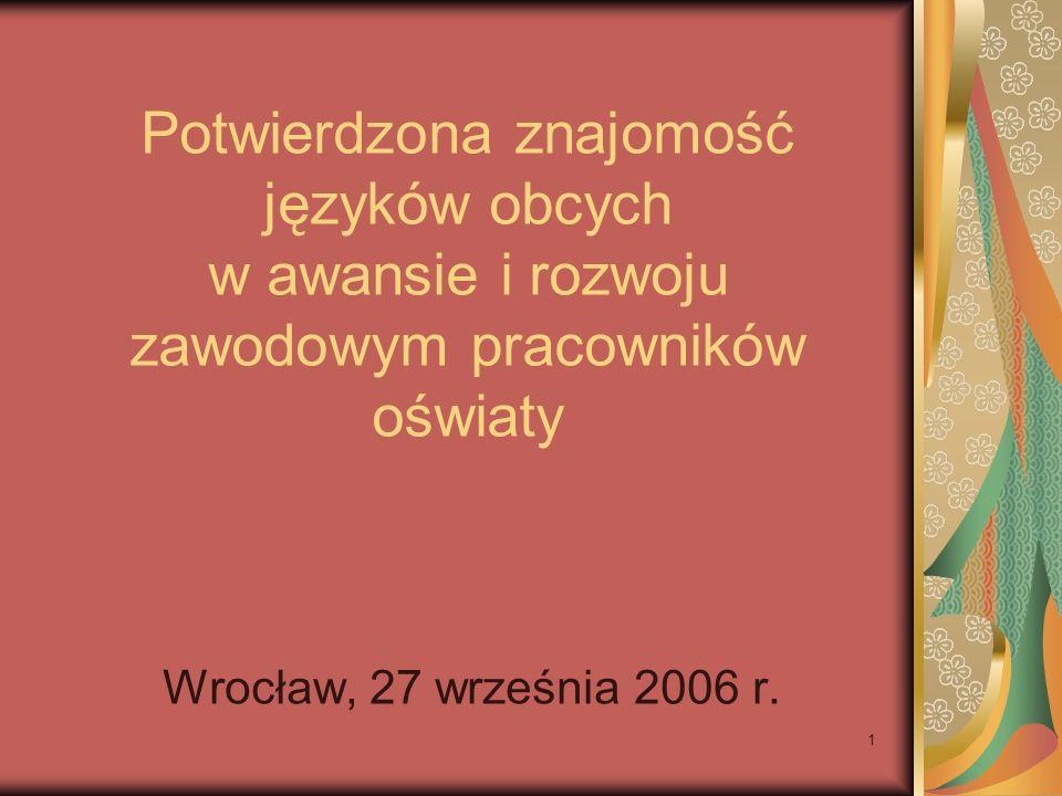 Potwierdzona znajomość języków obcych w awansie i rozwoju zawodowym pracowników oświaty