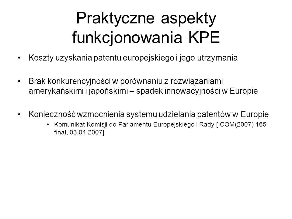 Praktyczne aspekty funkcjonowania KPE