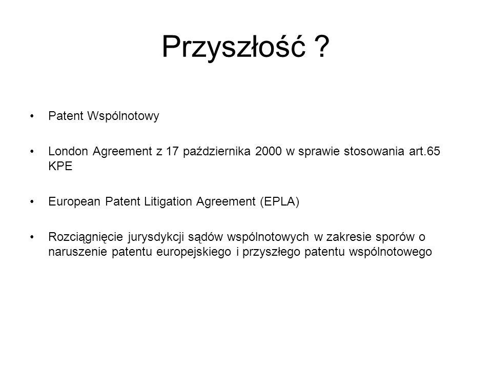 Przyszłość Patent Wspólnotowy