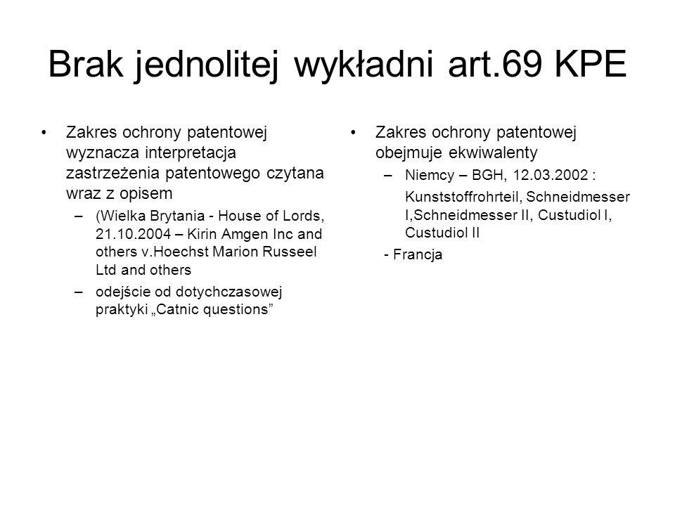 Brak jednolitej wykładni art.69 KPE