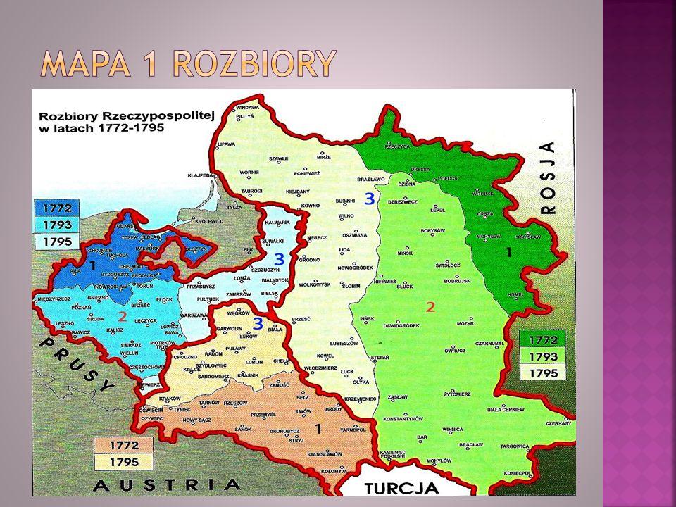 Mapa 1 Rozbiory