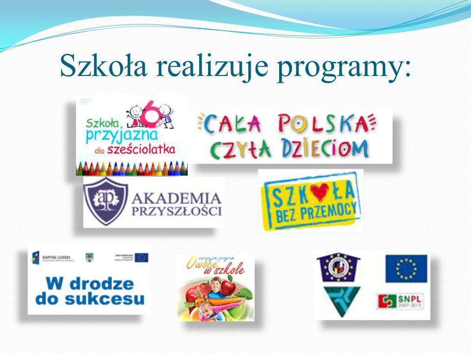 Szkoła realizuje programy: