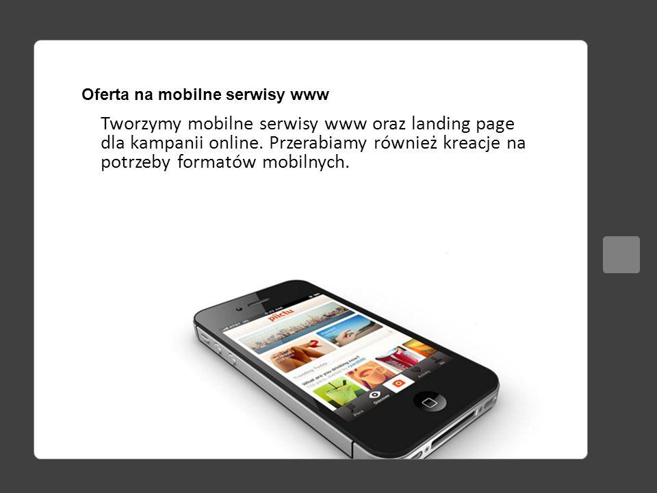 Oferta na mobilne serwisy www