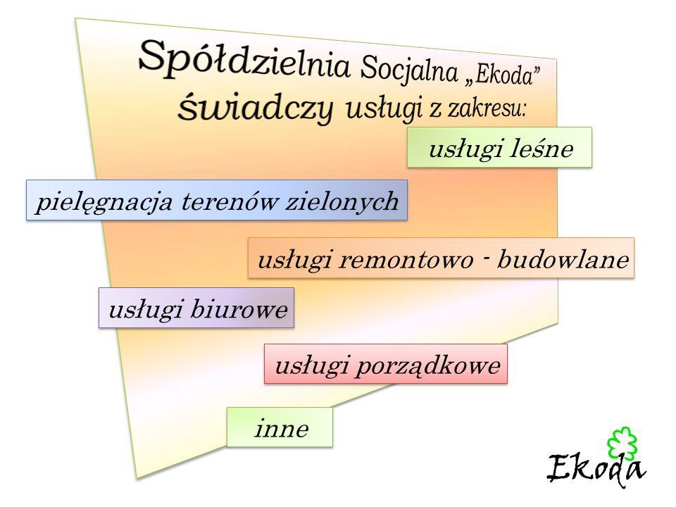"""Spółdzielnia Socjalna """"Ekoda świadczy usługi z zakresu:"""