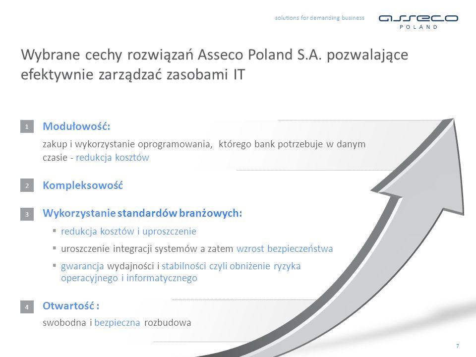 Wybrane cechy rozwiązań Asseco Poland S. A