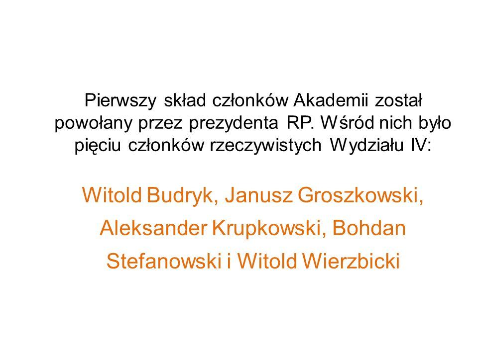 Pierwszy skład członków Akademii został powołany przez prezydenta RP