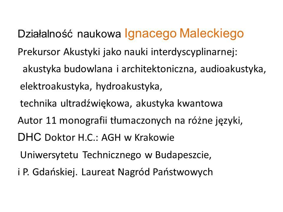 Działalność naukowa Ignacego Maleckiego