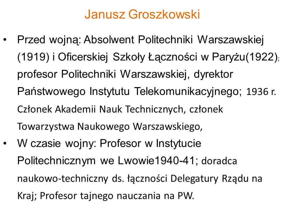 Janusz Groszkowski