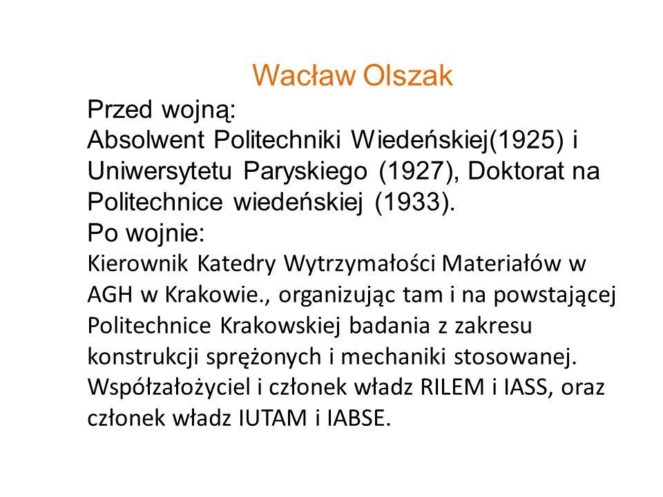 Wacław Olszak Przed wojną: