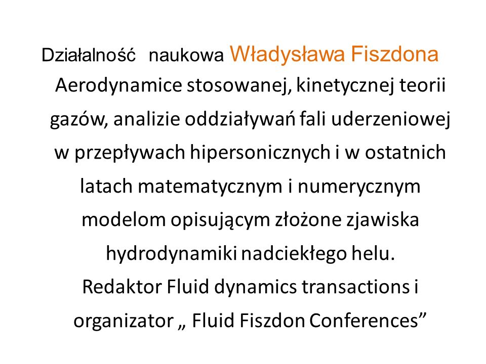 Działalność naukowa Władysława Fiszdona