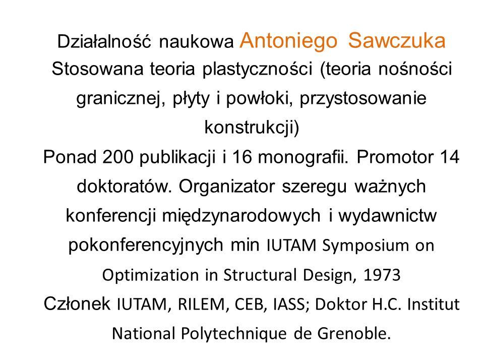 Działalność naukowa Antoniego Sawczuka