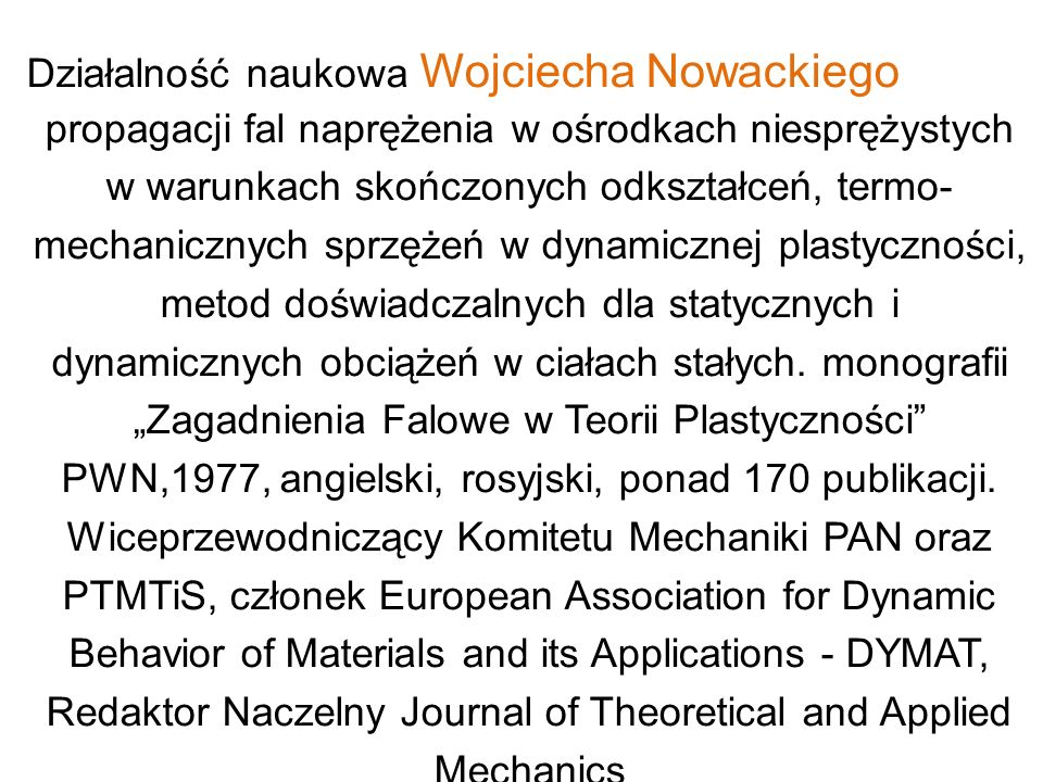 Redaktor Naczelny Journal of Theoretical and Applied Mechanics