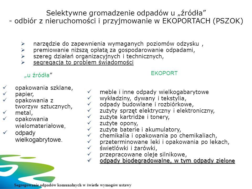 """Selektywne gromadzenie odpadów u """"źródła"""