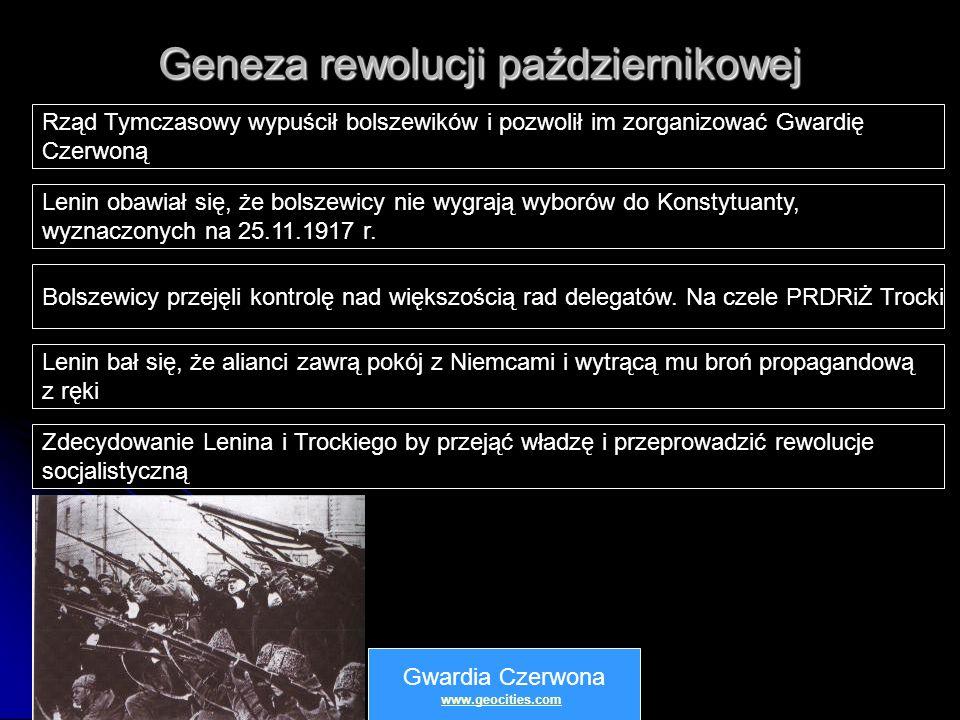 Geneza rewolucji październikowej